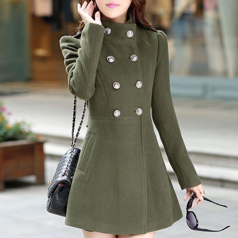 fef5f0e05 Details about Vogue Winter Women Long Coat Jacket Windbreaker Slim Outwear  Parka Korean Style